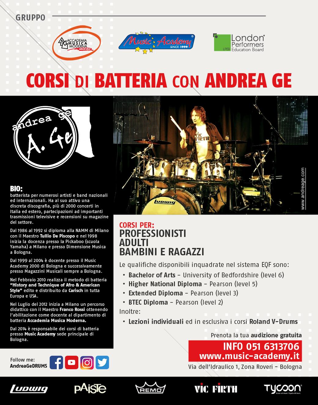 Drum School – Andrea Ge
